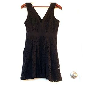FREE PEOPLE black lace dress with pockets Sz Small